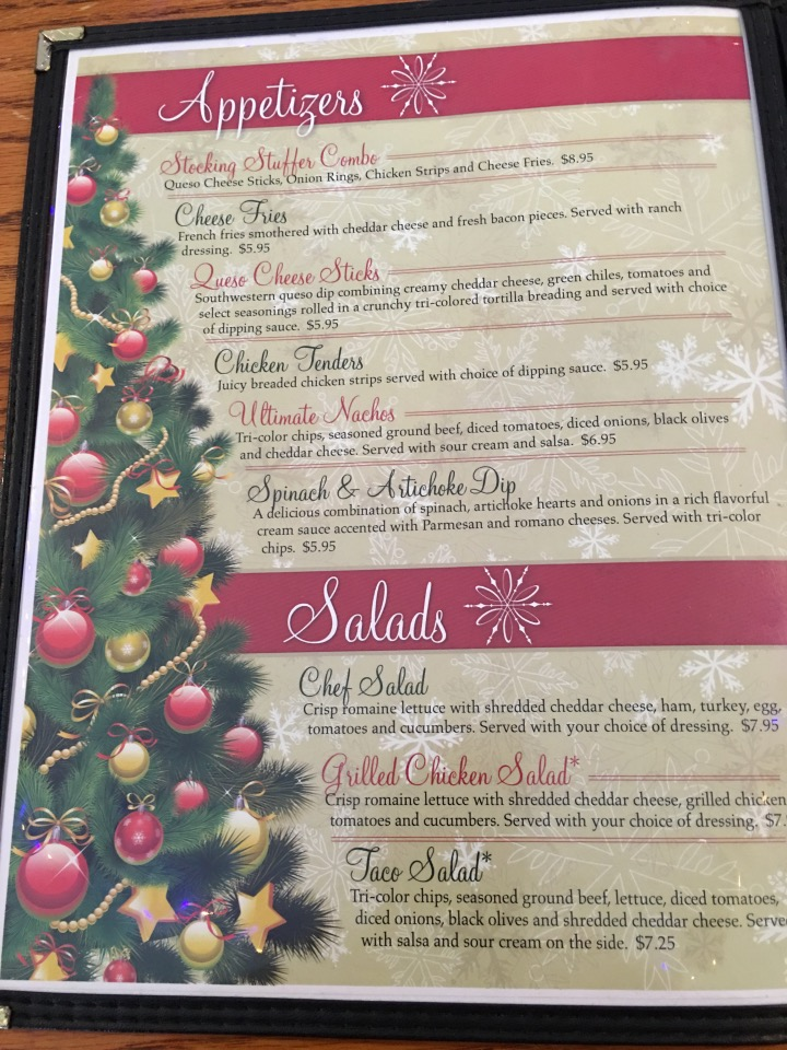 St. Nick's Menu
