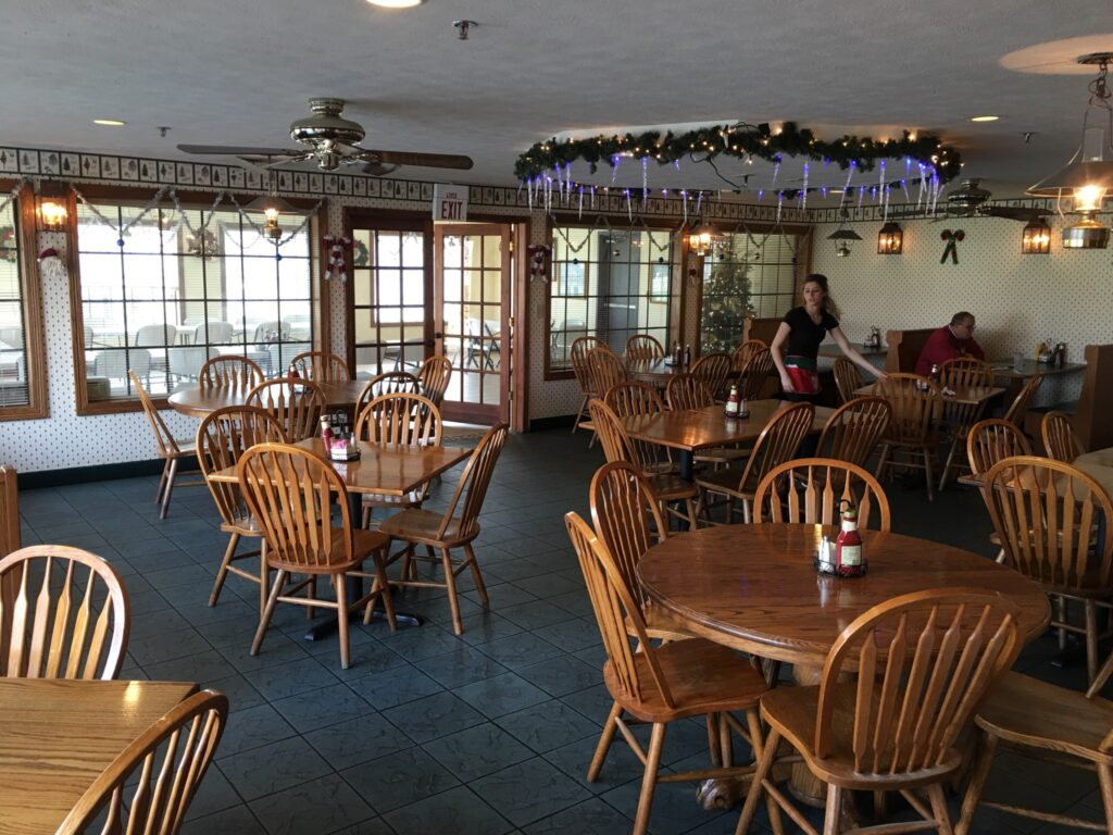 Seating at St. Nick's Restaurant in Santa Claus, IN