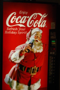 Santa Coke Machines dot the town of Santa Claus, IN