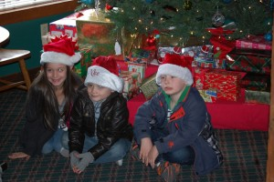 Santa's Lodge Christmas Tree with the grandkidz