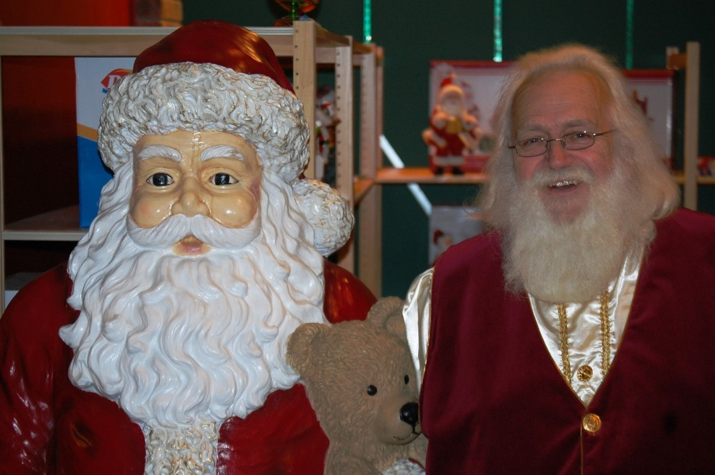 Santa with Santa
