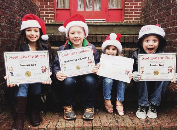 The Grandkidz all made the Good List (photo by Marissa Noe)