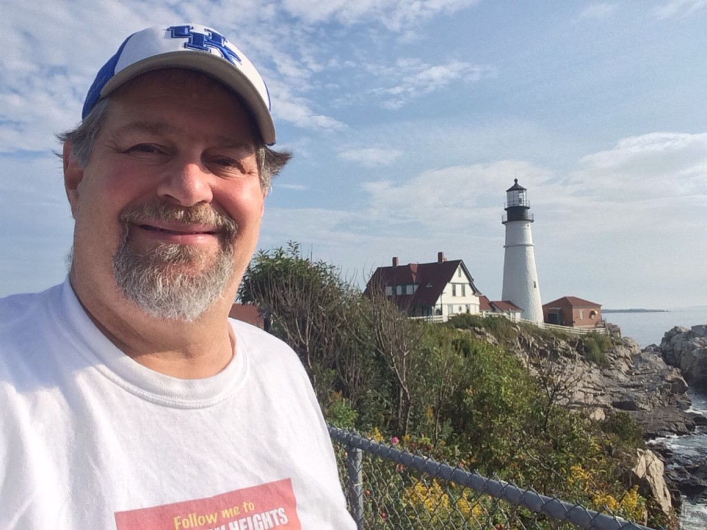 One of the famed lighthouses on the Maine coast
