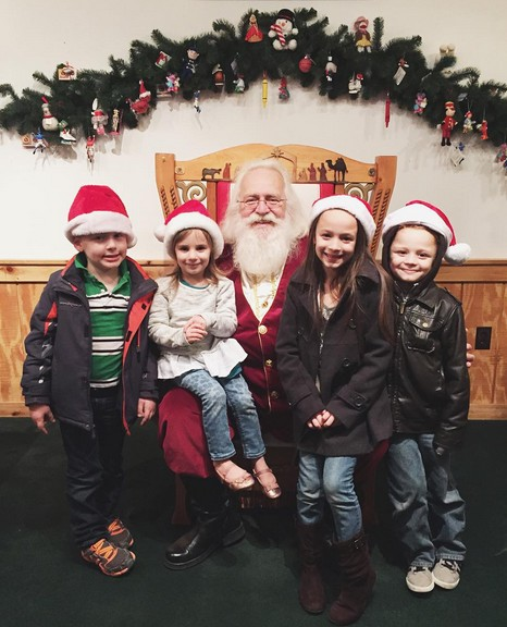 Santa with the Grandkidz