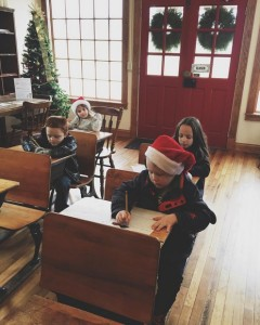 Writing letters at Santa Claus Post Office