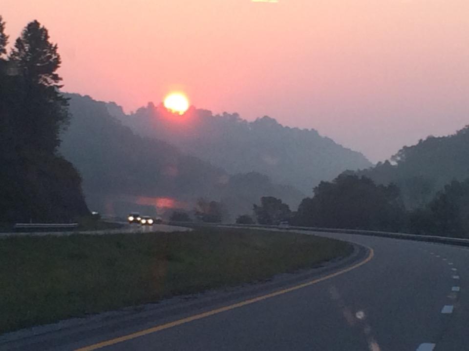 Sunrise in Eastern Kentucky as we approached West Virginia