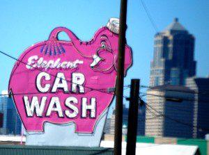Famed Pink Elephant Car Wash in Seattle