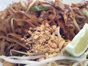 Vegetarian Pad Thai with Tofu at 4 Roosevelt Asian Bistro in Mystic, CT