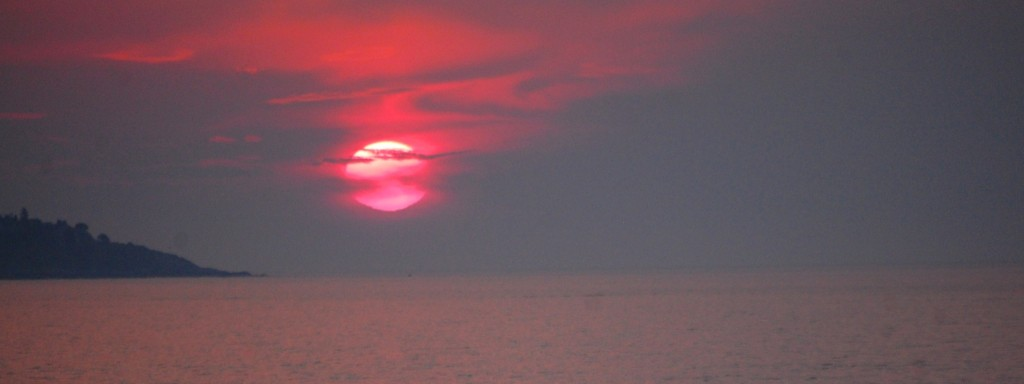 Sunrise over the Atlantic Ocean as seen from Old Orchard Beach, ME