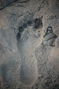Left my print on the beach in Old Orchard, ME