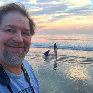 Catching the sunrise with Jos and Rockwell at Old Orchard Beach