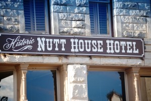 Who would stay in the Nutt House Hotel?
