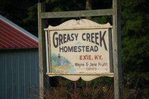 Greasy Creek Homestead in Exie, KY