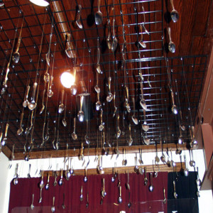 Spoon Ceiling at JELL-O Museum