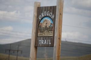 Oregon Trail Marker in Kemmerer, WY