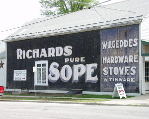 Richards Sope on side of Hardware Store in Embro, Ontario