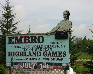 Embro, Ontario, home of the Highland Games