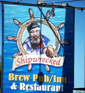 Ahoy matey...how about some lunch at the Shipwrecked Brew Pub in Egg Harbor, WI