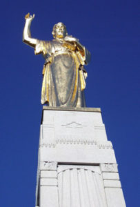 Hill Cumorah MOnument with Moroni