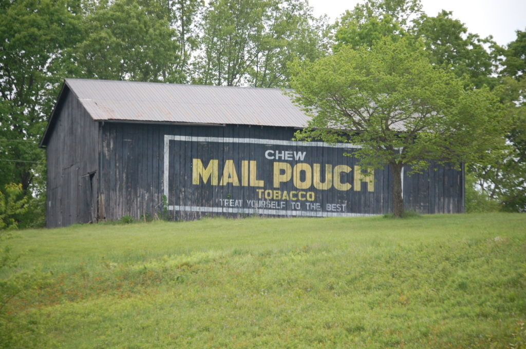 A rare Mail Pouch barn sighting in Hargett, KY