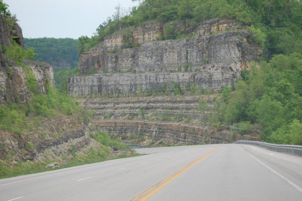 The Big Hill north of Big Hill, KY on US Hwy 421. Goes down through limestone cliffs, often called Palisades