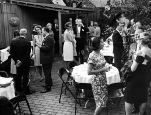 Guarino's patio deck in 1966