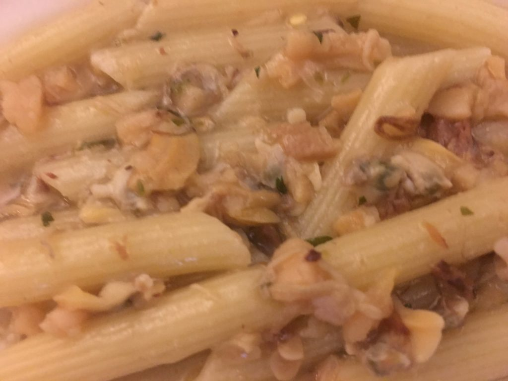 Penne pasta with homemade Clam Sauce - WOWZERS