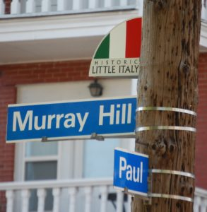 Murray Hill and Paul in Little Italy. I was born in the house on this corner in 1956