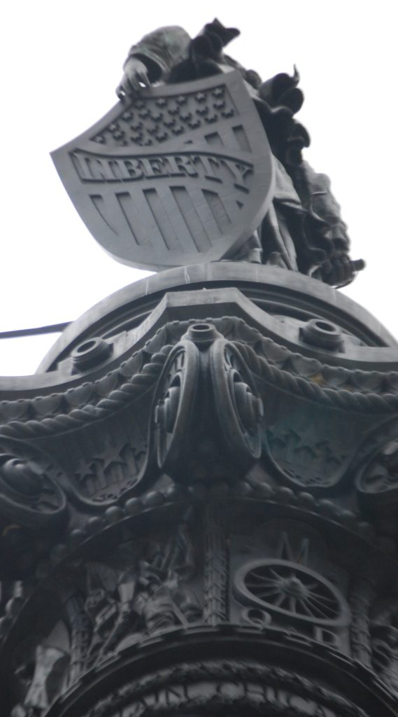 Liberty at top of monument