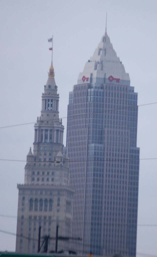 Key Tower (R - 947 feet) and Terminal Tower (L - 771 feet)