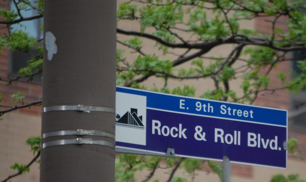Rock and Roll Blvd. in Cleveland