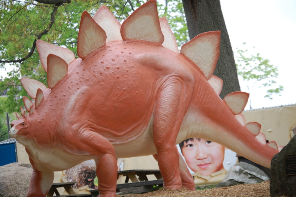 A Dinosaur Sighting outside the Cleveland Museum of Natural history