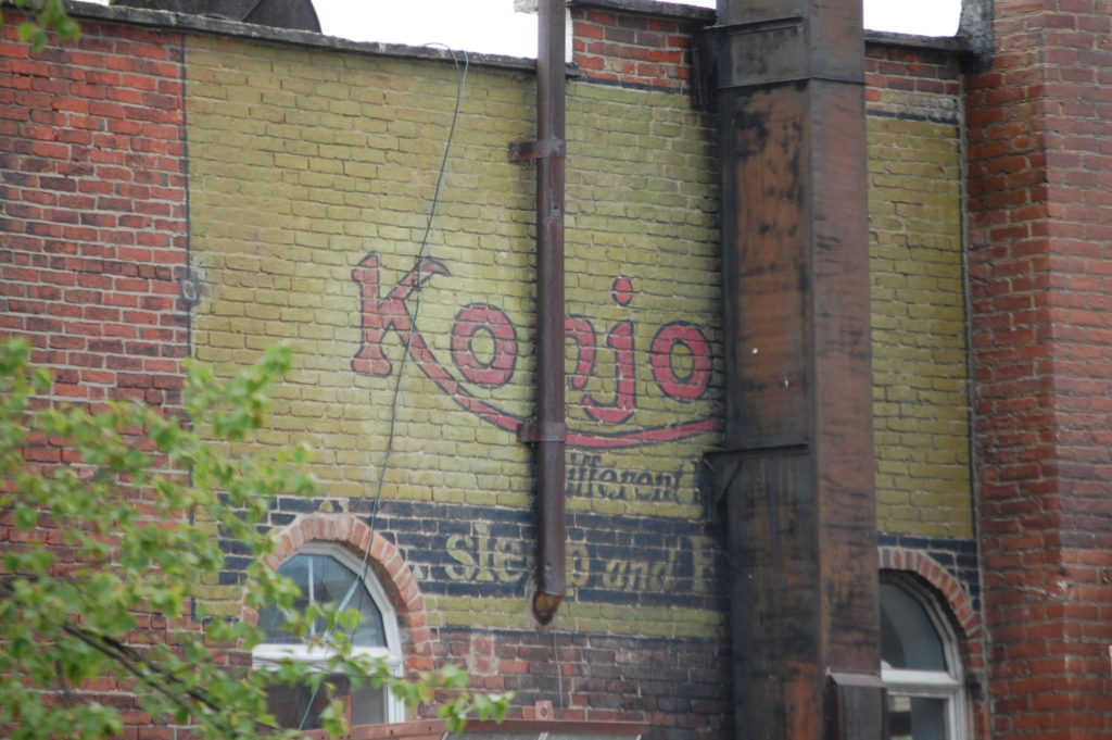Old Wall Advertisement on the side of a building in Chagrin Falls