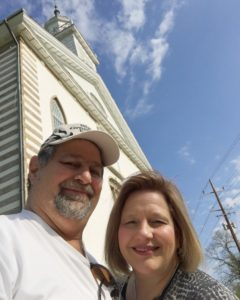 Sumoflam with his wife at the Kirtland Temple