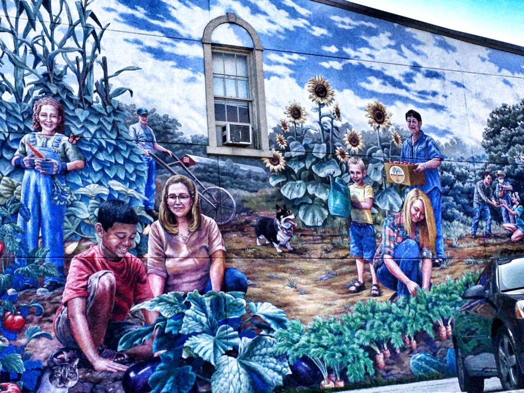 Community Garden Mural in Wilmington, OH