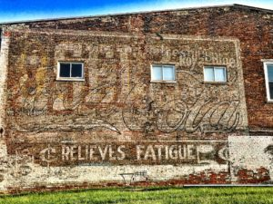 Old Ghost Ads on a wall in downtown Wilmingotn, OH