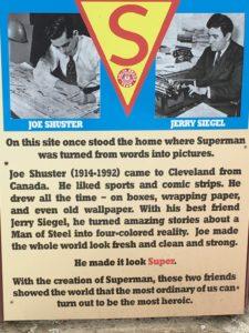Story of Superman at Joe Shuster's former home
