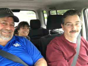 Riding with Tina and Jim around Cleveland