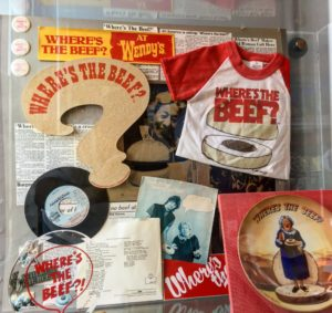"""Where's the Beef?"" memorabilia from the famed advertising campaign"