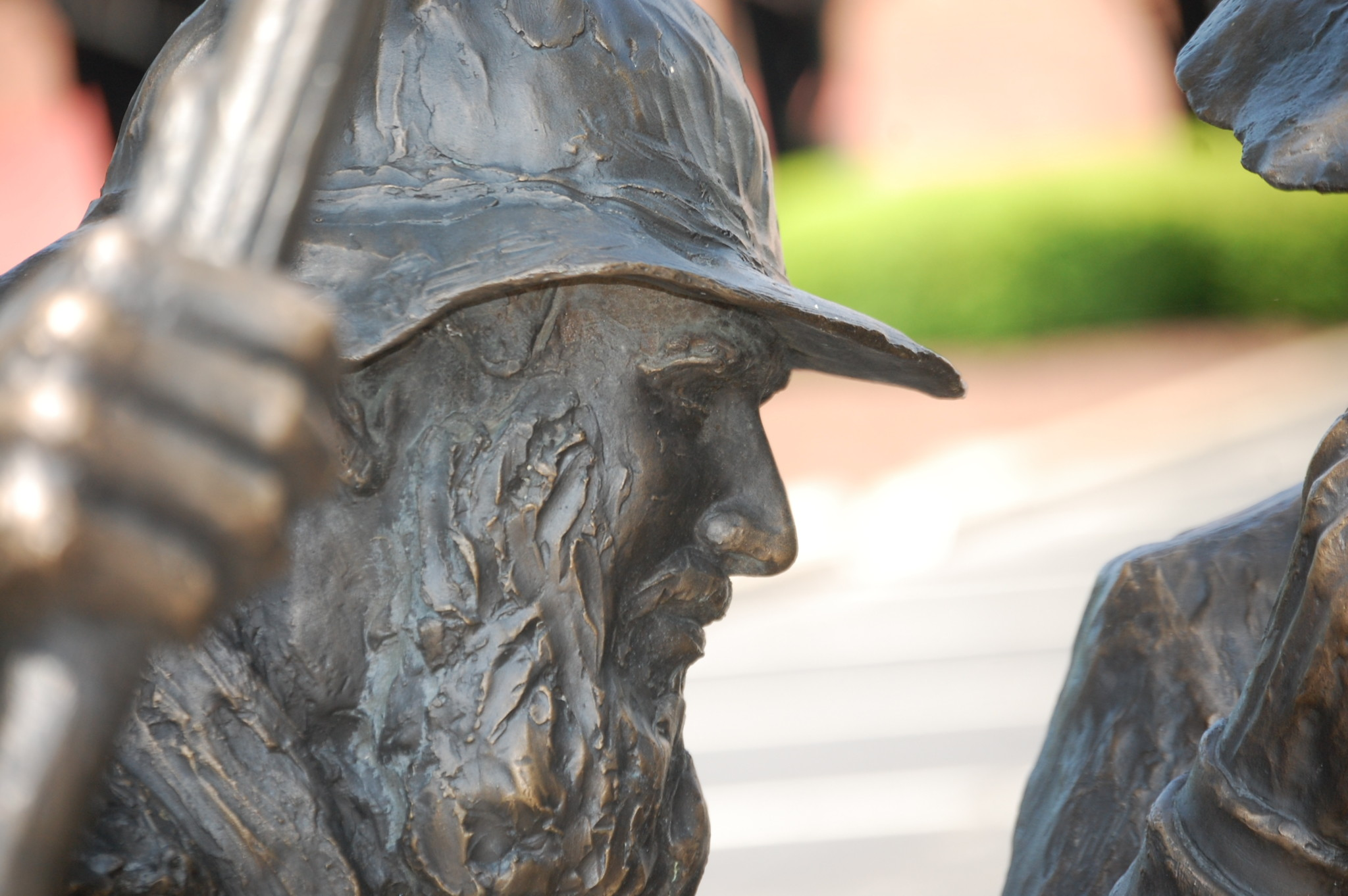 Closeup of some of the Whiskey Rebellion Statue