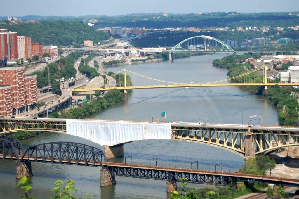 Bridges across Pittsburgh