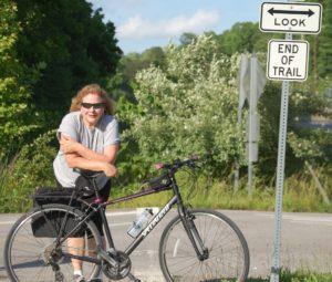 Julianne the biker!