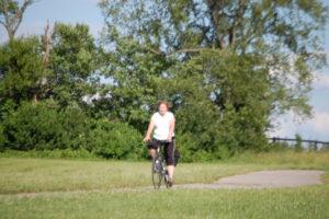 Julianne enjoying the Legacy Trail