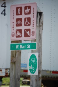 Signage on Little Miami Trail
