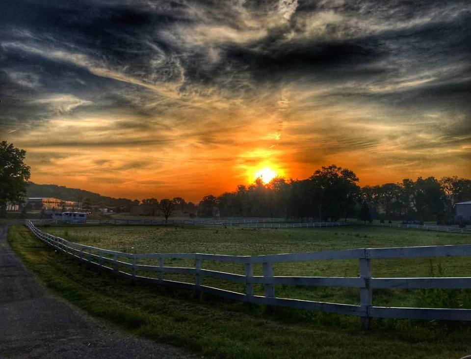 Sunrise as seen from the Greenmoor Common Equestrian Center in Canonsburg