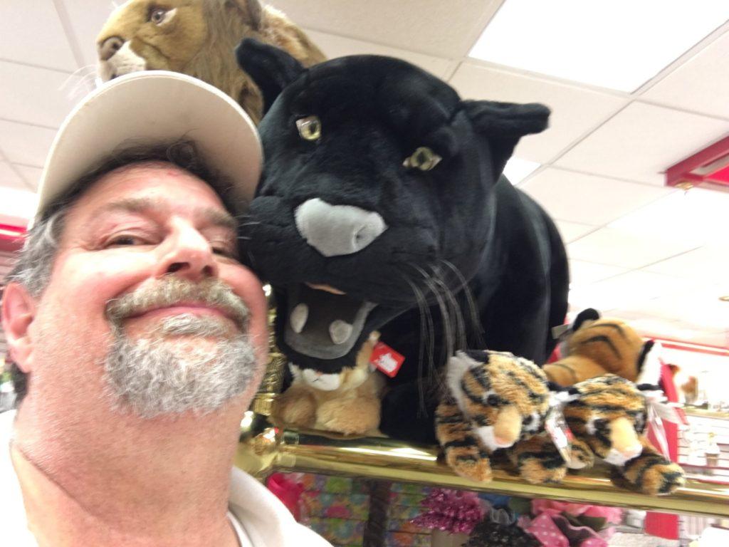 Cuddly plush panther