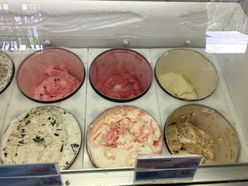 Ice Cream offerings at Off the Beaten Path