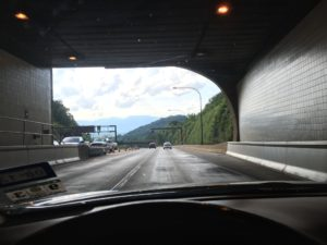Exiting the Cumberland Gap tunnel into Kentucky