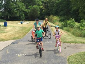 Julianne, Marissa and grandkidz heading off on the northern section of the Little Miami Scenic Trail