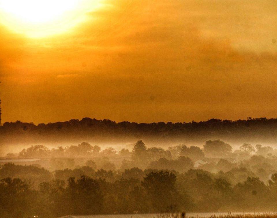 Pennsylvania sunrise as seen from Boyce Mayview Park near Upper St. Clair, PA